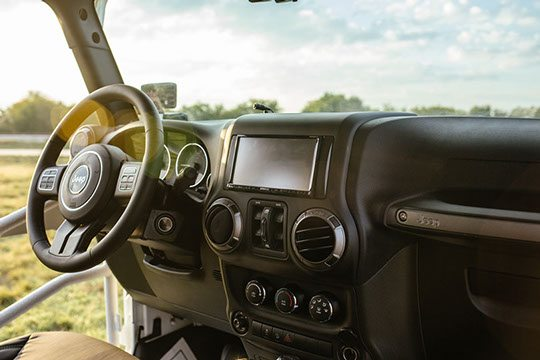 Jeep Interior Navigation System