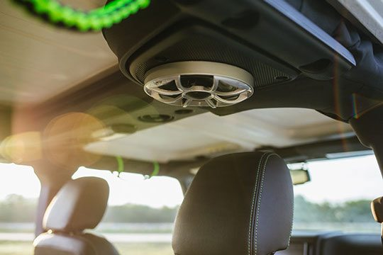 Custom Interior Ceiling Car Speakers