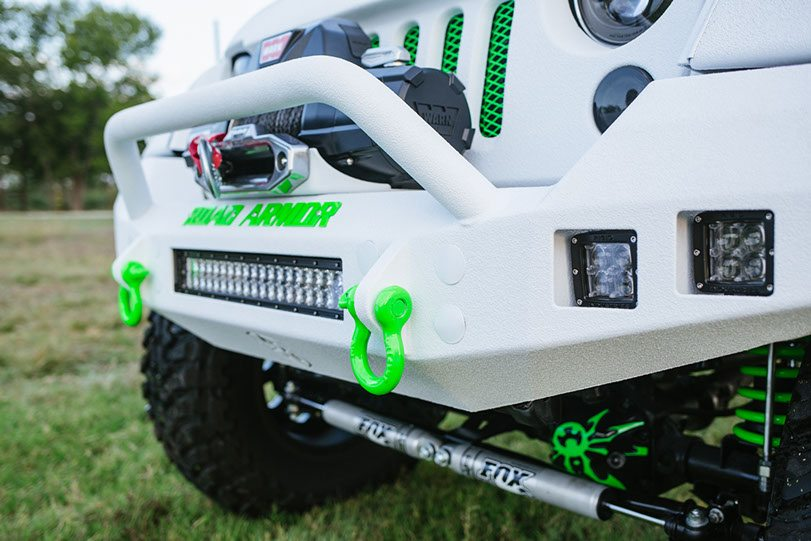2015 Jeep White Out Edition Front Lights and Bumper