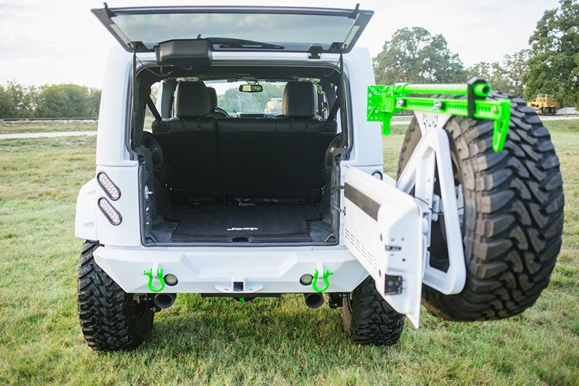 2015 Jeep White Out Edition Rear Trunk View
