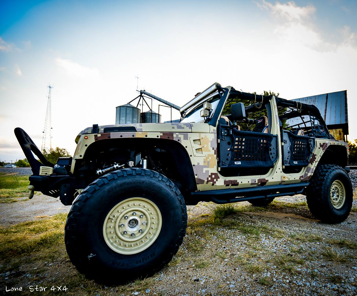 Camo Jeep Wrangler Drivers Side View