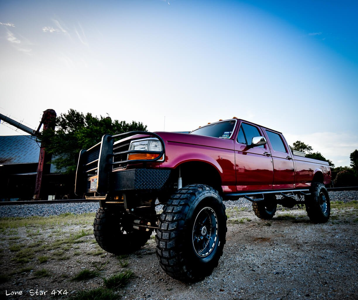 '97 Custom Lifted Ford F250 Drivers Side View