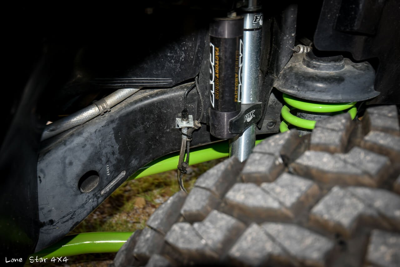 Gecko JK Fox Shocks and Close up of Tire