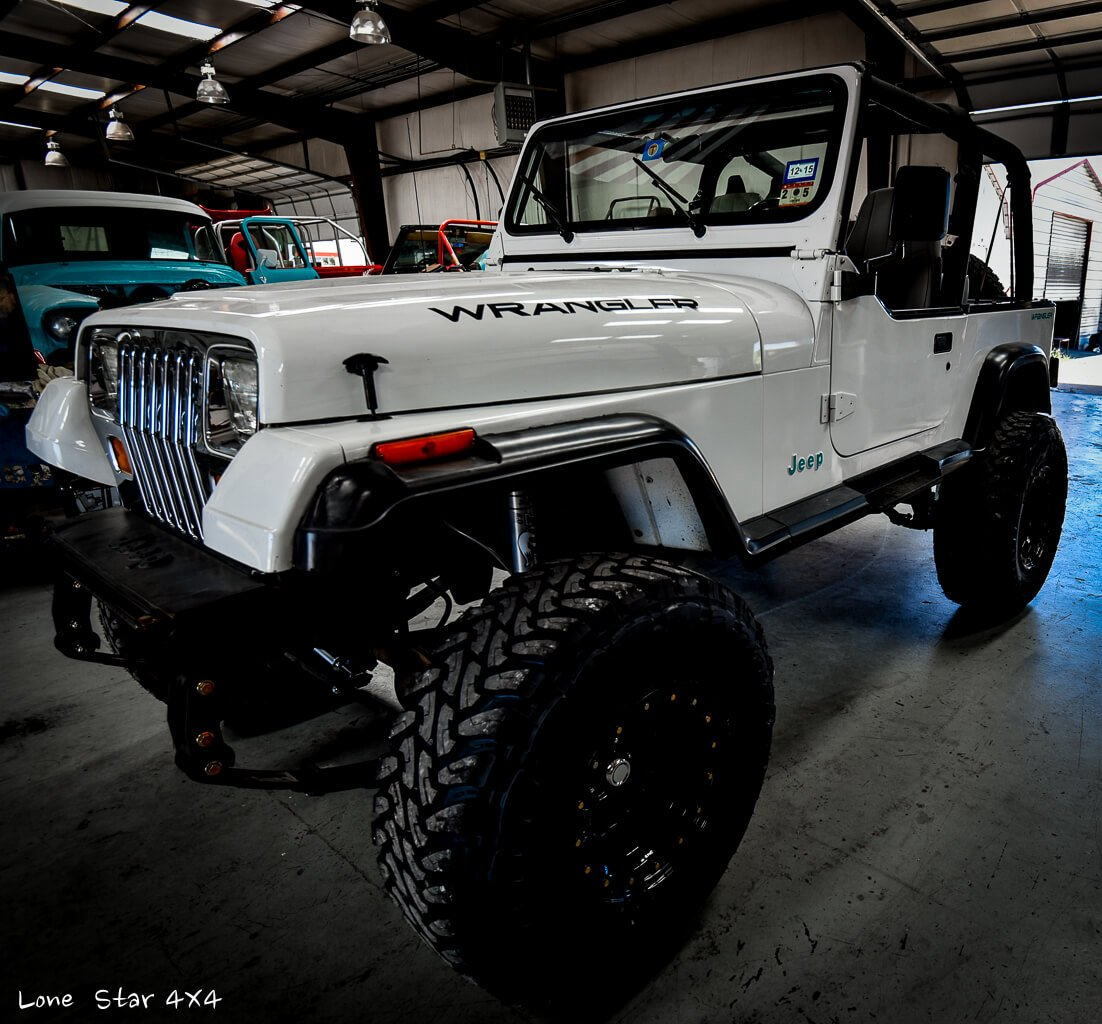 Lifted Jeep YJ Front Drivers Side