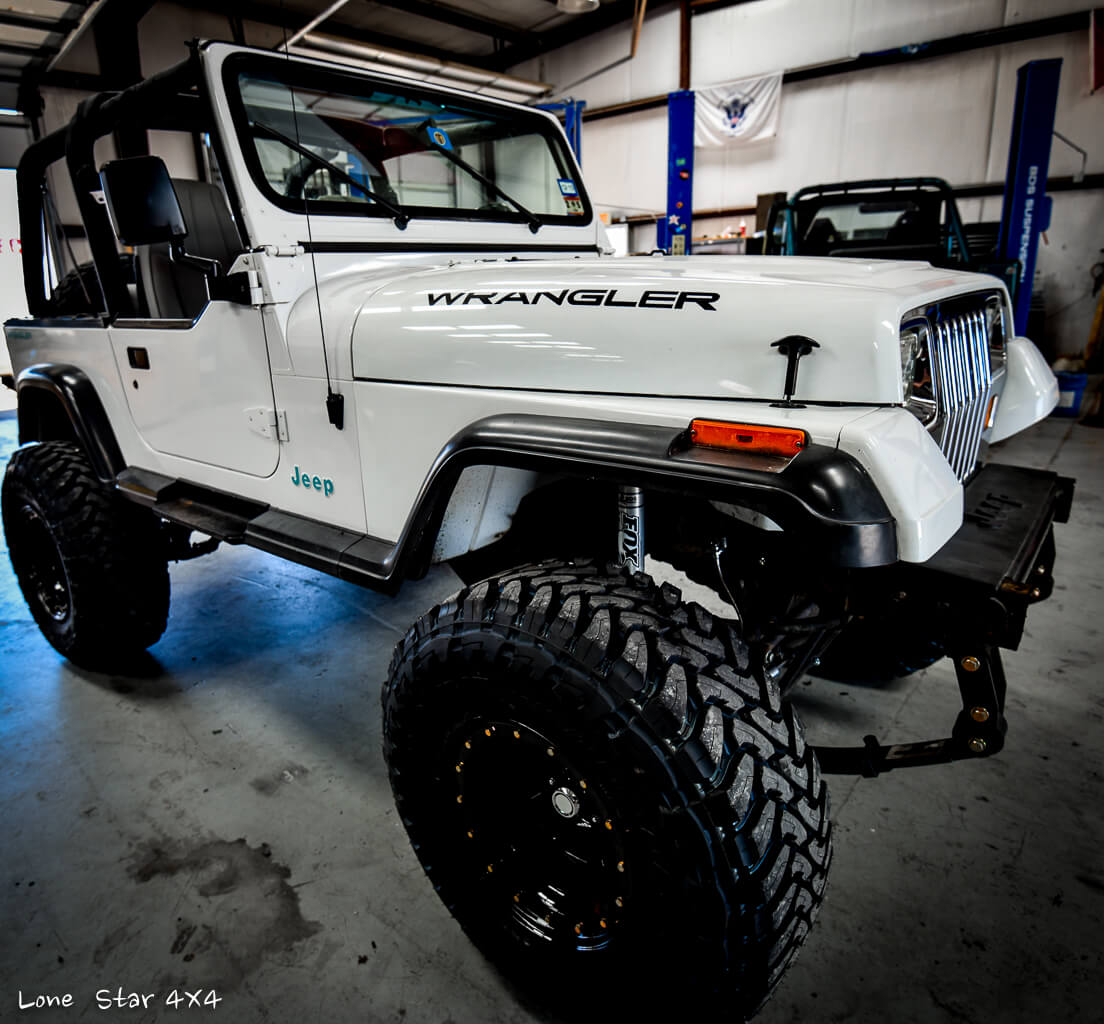 Lifted Jeep YJ Front Passenger Side