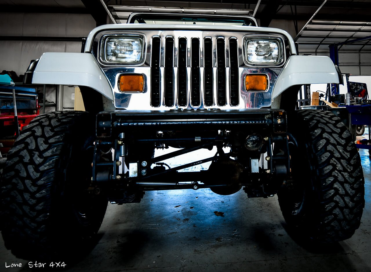 Lifted Jeep YJ Front View