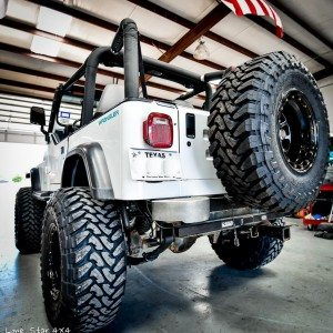Lifted Jeep YJ Rear View