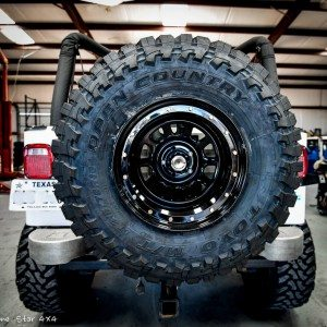 Lifted Jeep YJ Mounted Spare Tire