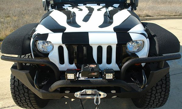 Custom Sprayed Jeep Bumper