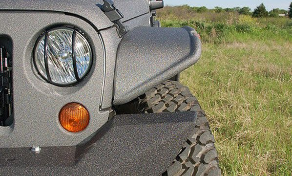 Custom Jeep Fender Flare Front View