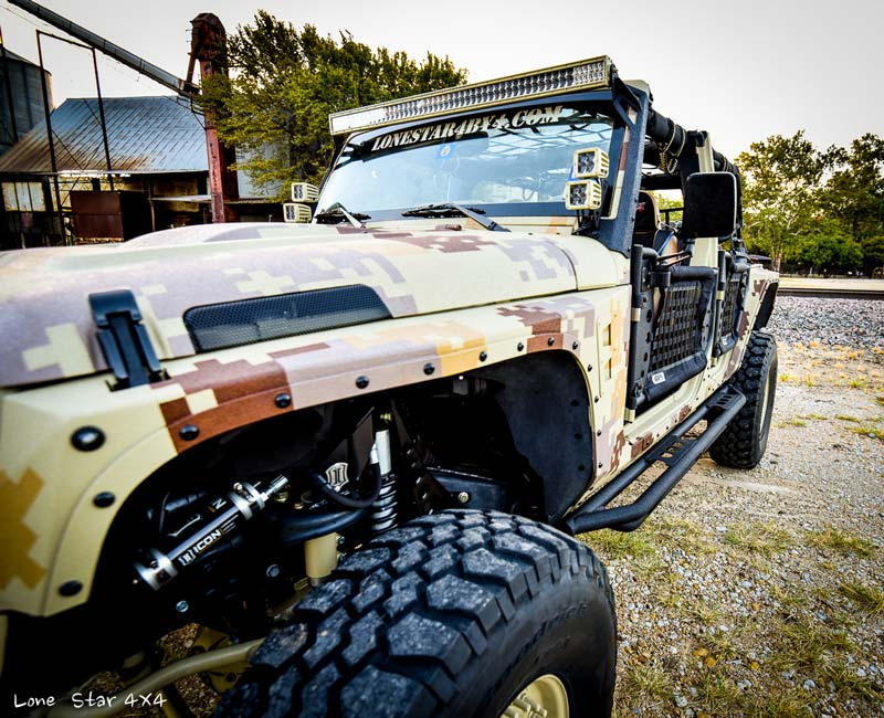 Custom Jeep Wrangler Fender