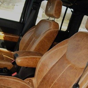 Custom Leather Interior Front Seats and Steering Wheel