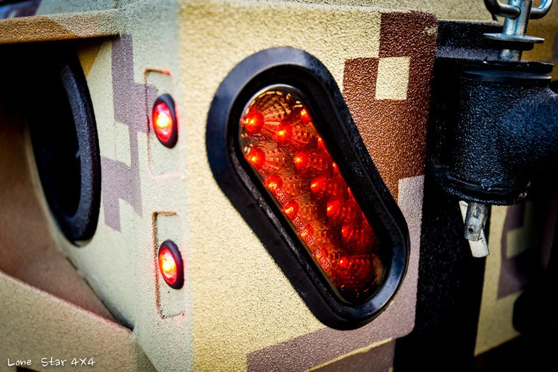 Close up view of Custom Jeep Taillight