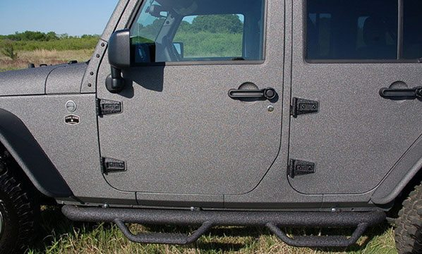 Custom Jeep Sprayed Step Bars