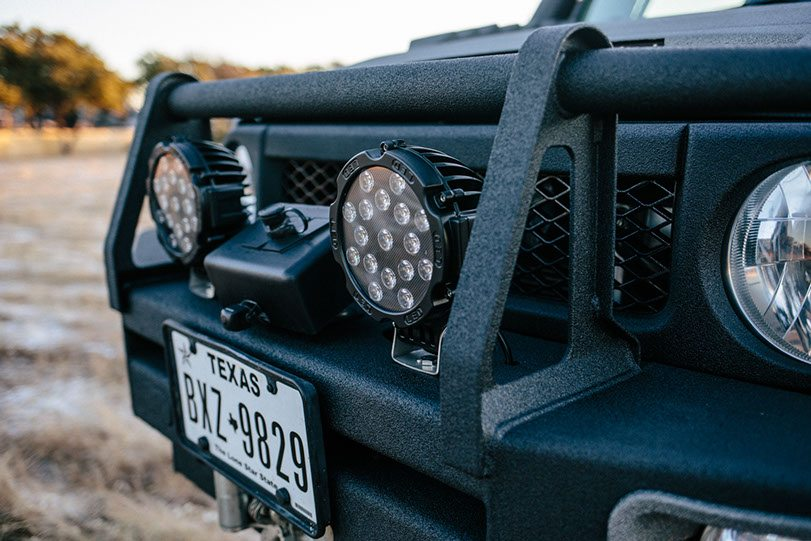Close Up of Ghost Recon FJ Front Lights and Bumper