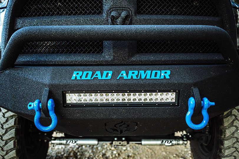 Custom Front-Bumper LED Lighting on Dodge