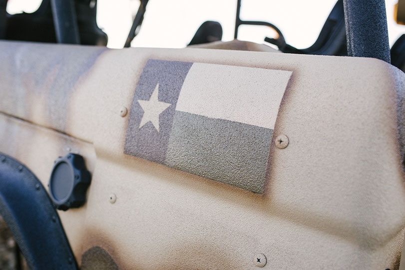 '76 Bronco Frame-Off Custom Texas Flag Spray