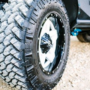 Off Road Tires with Custom Wheels