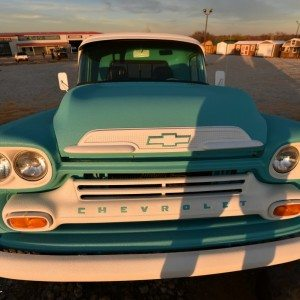 1959 Chevy Apache Truck Front View