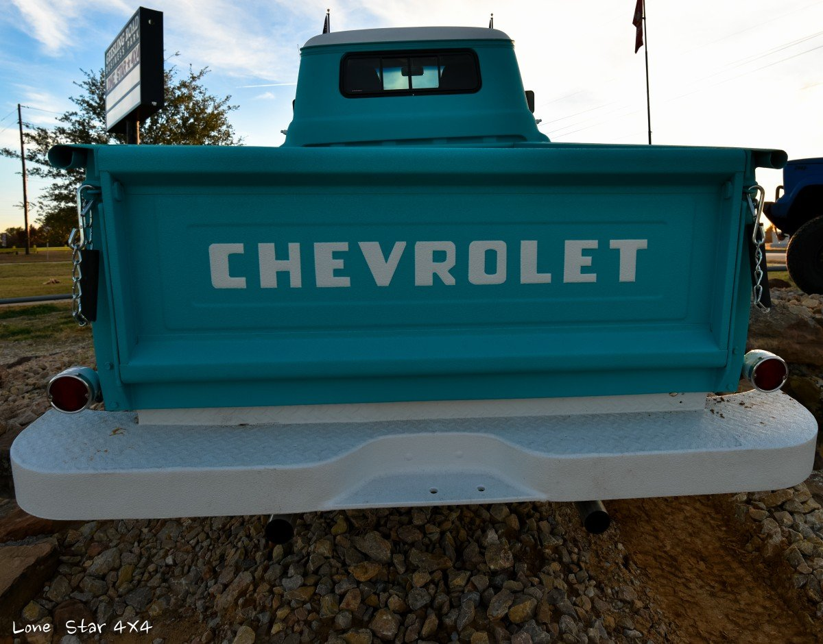 1959 Chevy Apache Truck Rear Tailgate View
