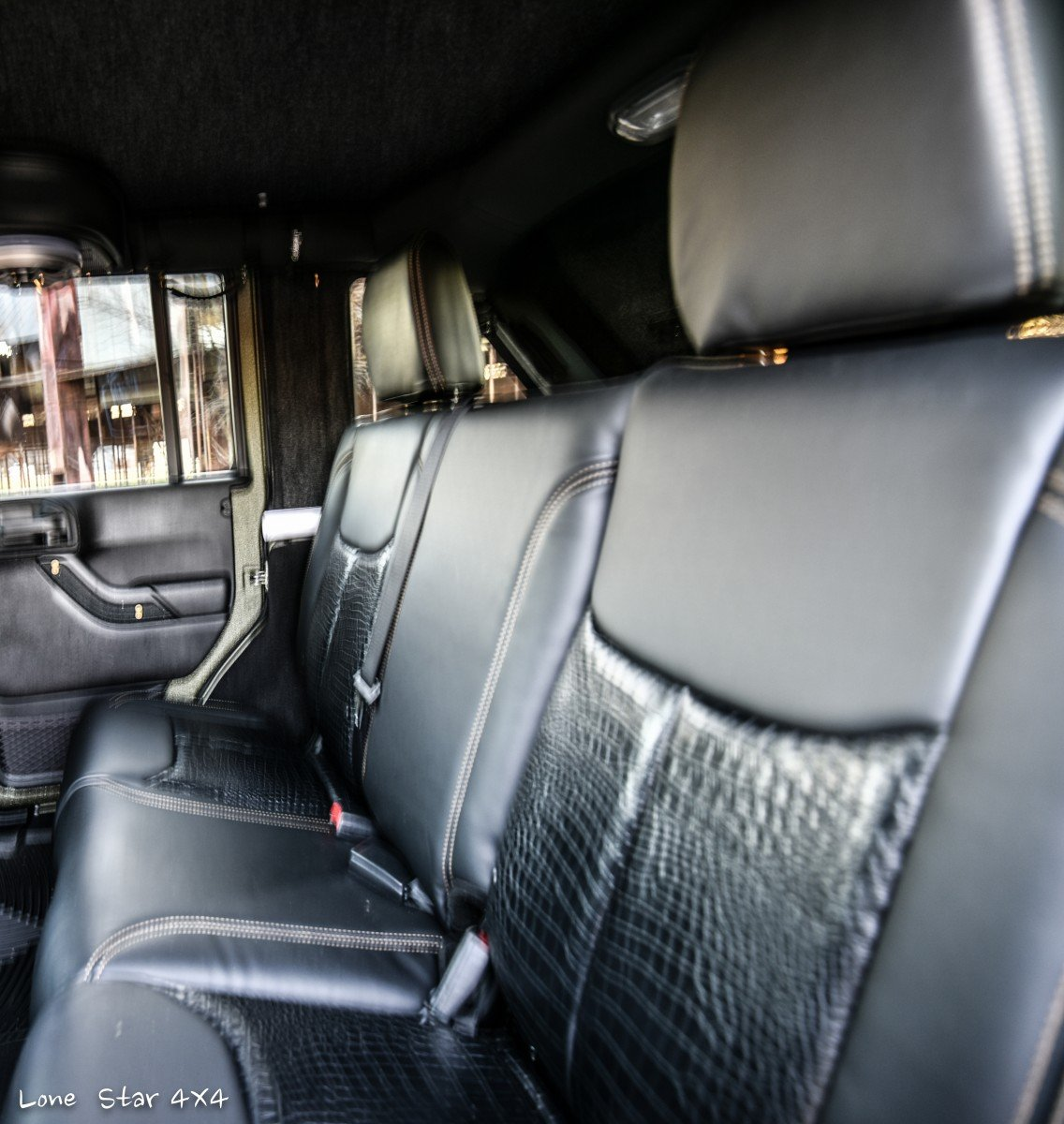 Baylor Bears Jeep Wrangler Custom Leather Interior Backseat