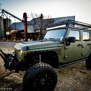 Baylor Bears Jeep Wrangler Front Drivers Side View