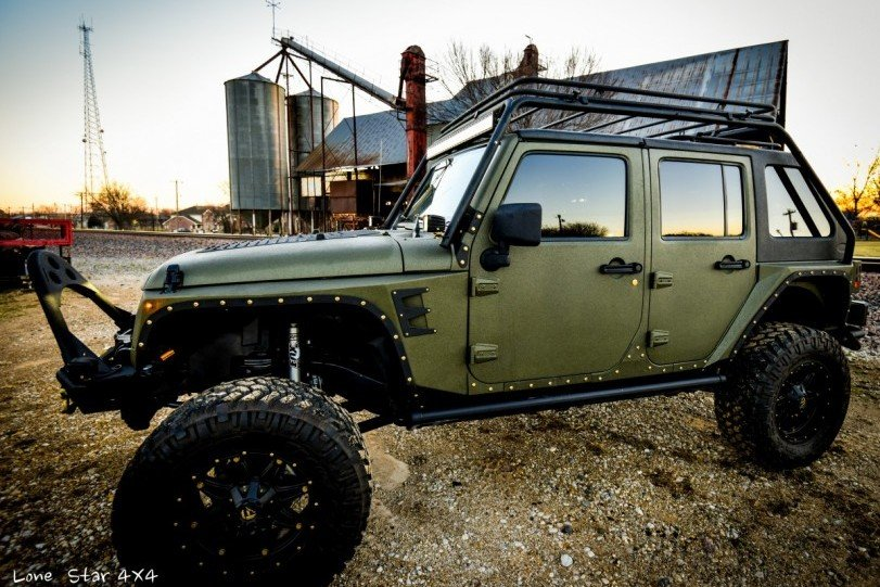 Baylor Bears Jeep Wrangler Full Body
