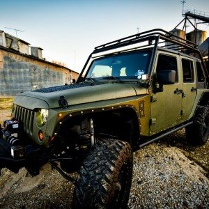 Baylor Bears Jeep Wrangler Front Drivers Side