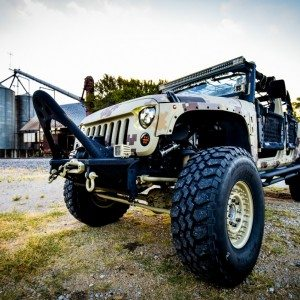 Lone Star 4X4 Camo Jeep Wrangler Front Tire and Bumper