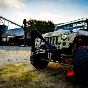 Lone Star 4X4 Camo Jeep Wrangler Front View