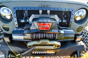 Warn Winch on RIPP Supercharged Jeep