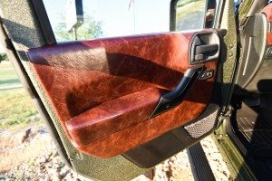 Leather Interior on Door of RIPP Supercharged Jeep