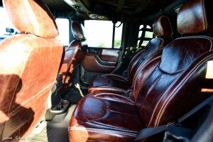 Custom Leather Backseats in RIPP Supercharged Jeep