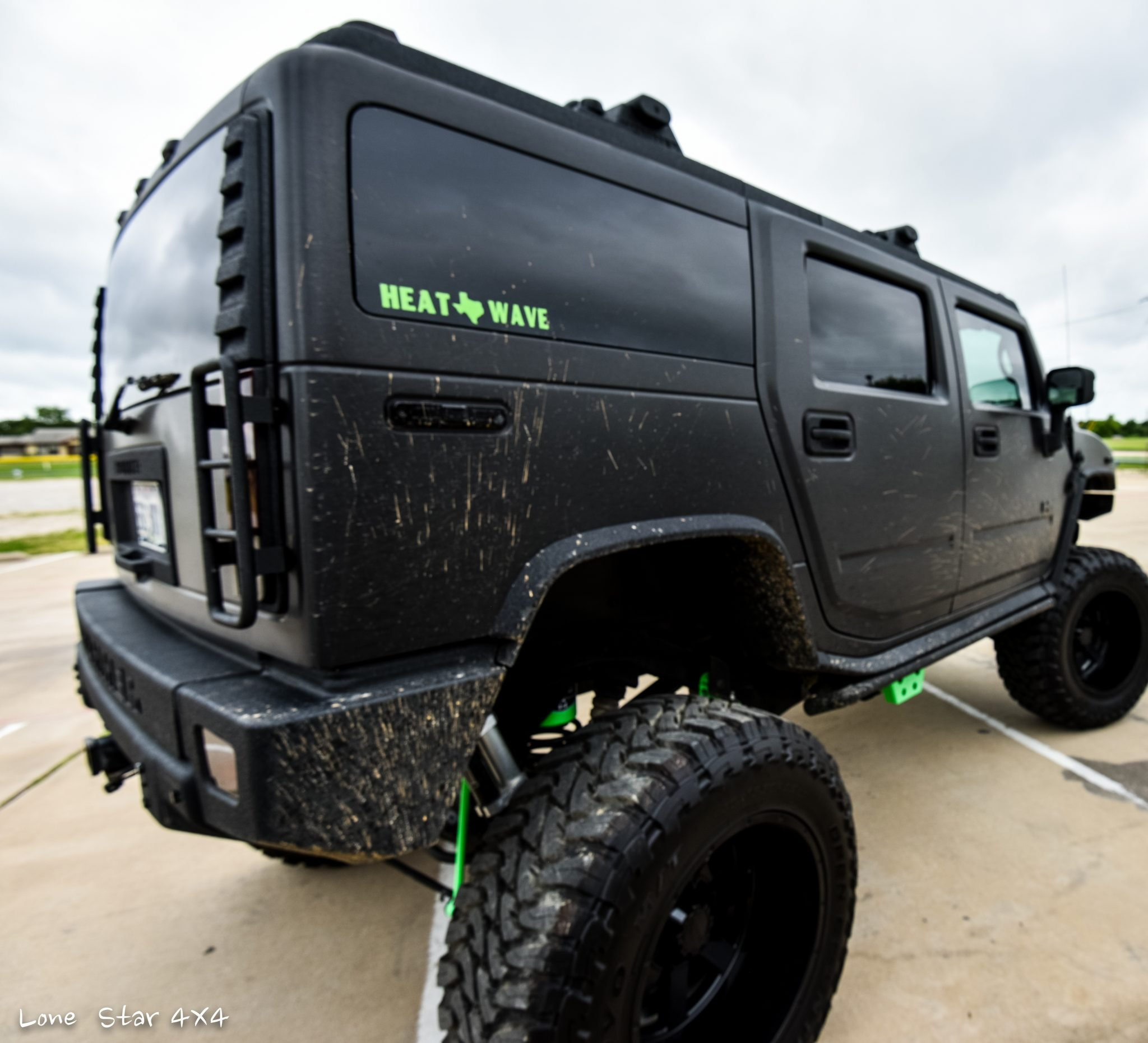 Custom Hummer H2 Rear Passenger View