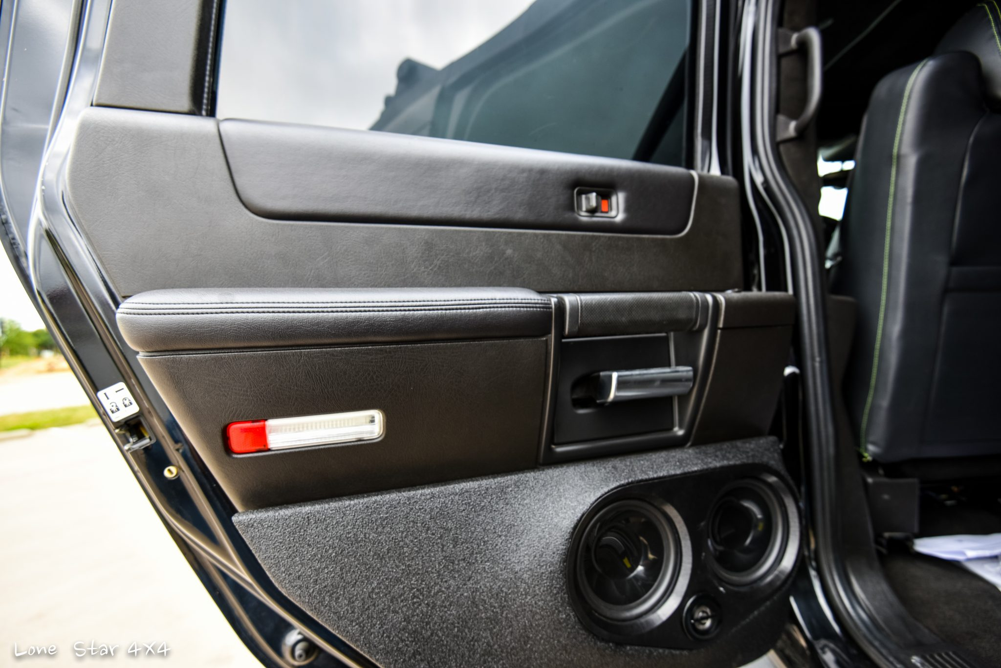 Custom Hummer H2 Interior Back Door