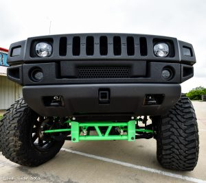 Custom Hummer H2 Front Axle and Bumper