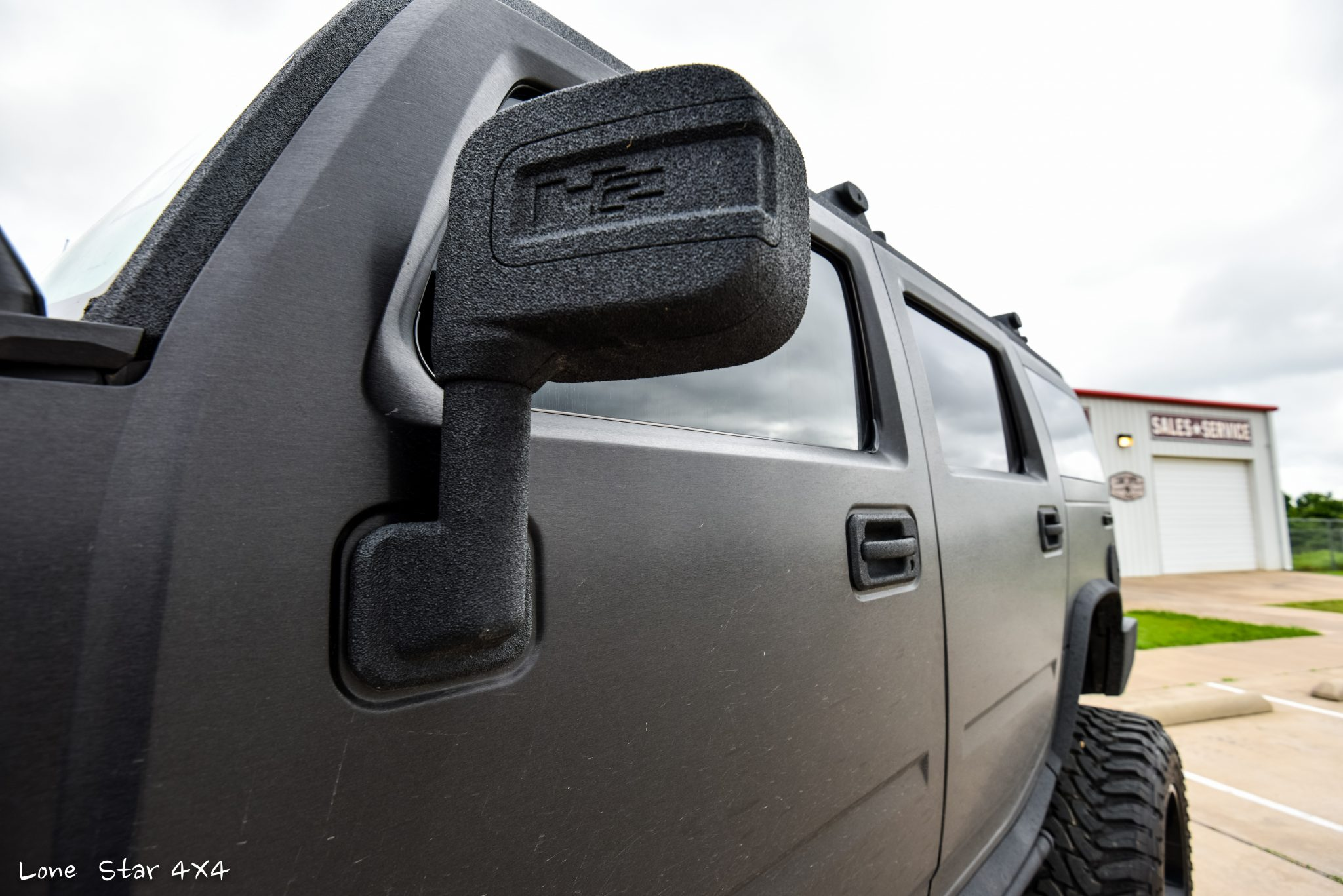 Custom Hummer H2 Custom Sprayed Side Mirror
