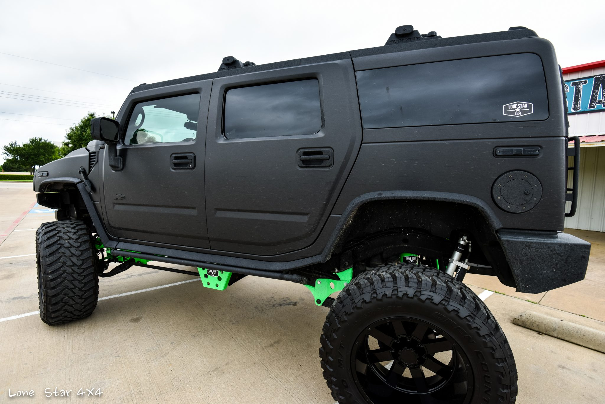 Custom Hummer H2 Rear Drivers Side View