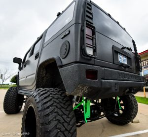 Custom Hummer H2 Rear View and Gas Cap