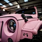 Custom Sprayed Pink Jeep Headlight