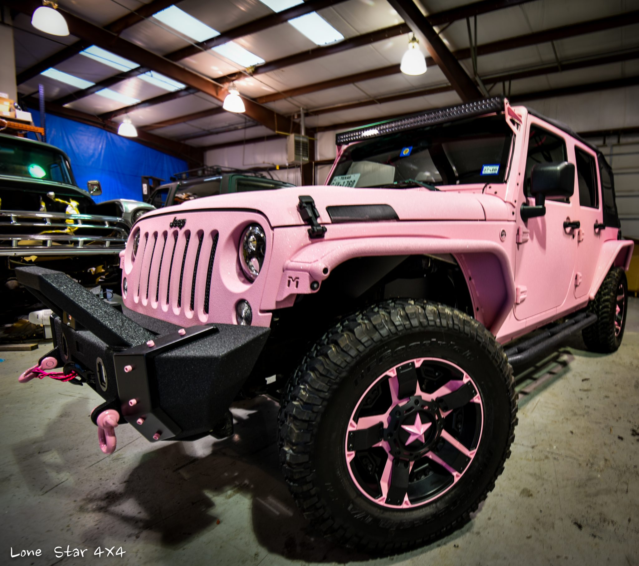 custom pink jeep allen tx lone star 4x4 lone star 4x4. Black Bedroom Furniture Sets. Home Design Ideas