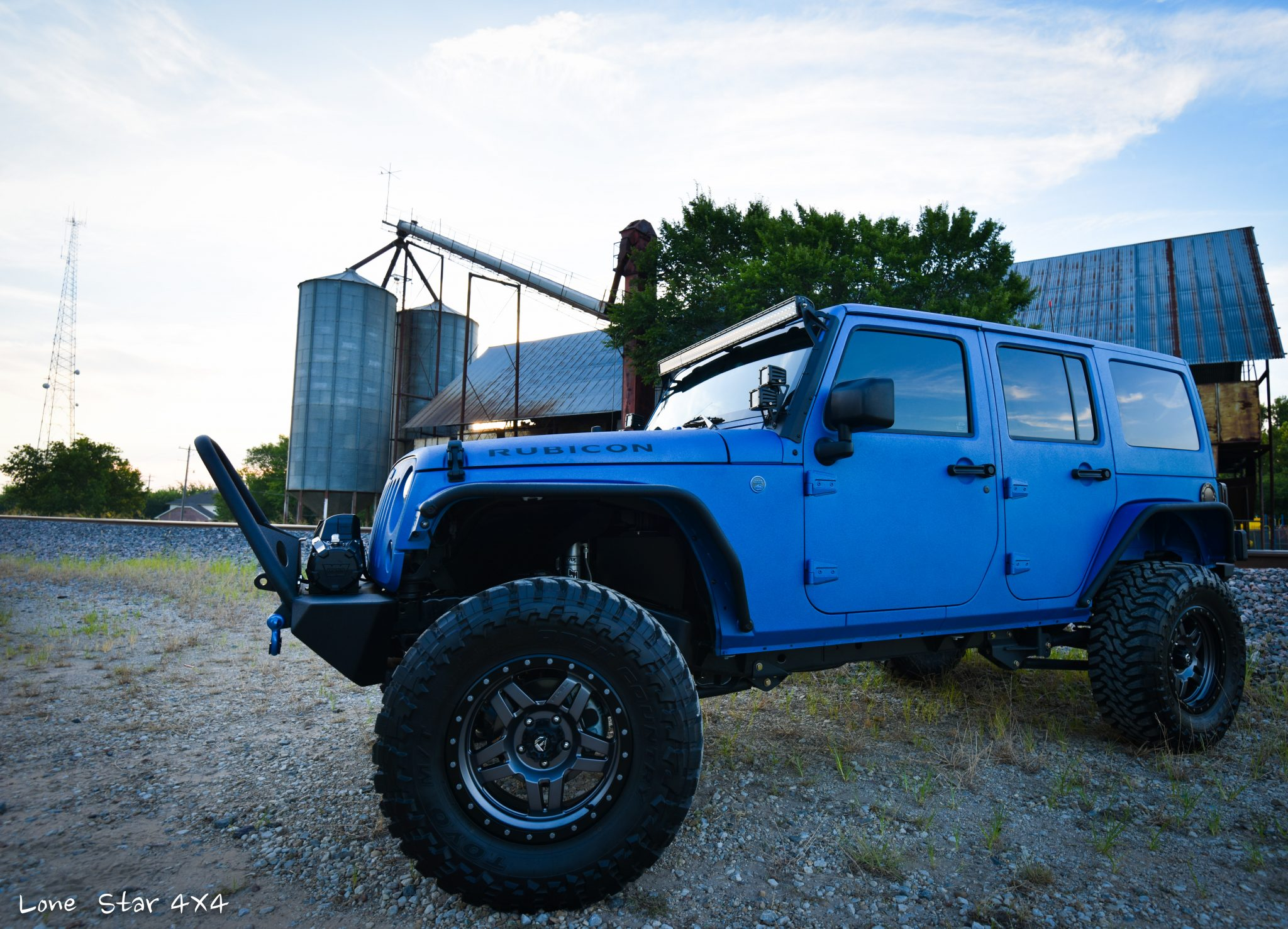 Sprayed Blue Jeep Rubicon