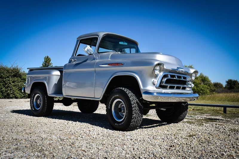 1957 big window chevy truck lone star 4x4 for 1957 chevy big window truck for sale