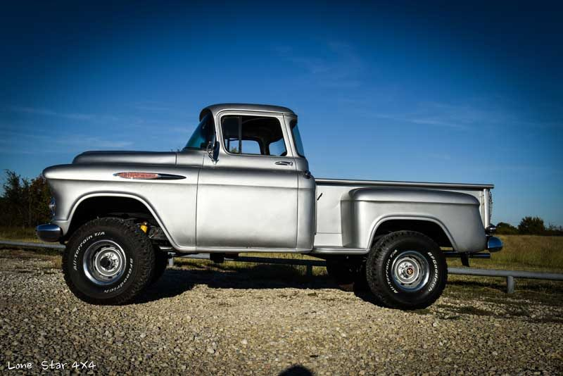 1957 Big Window Chevy Truck Drivers Side View