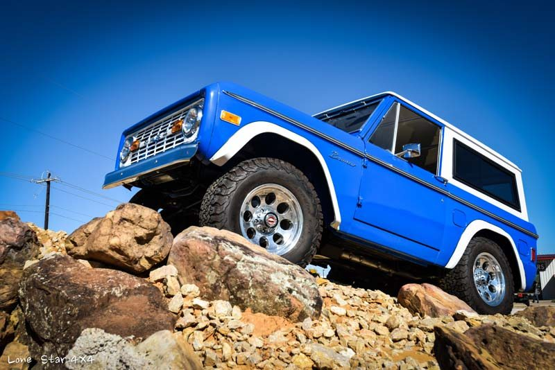 1977 Ford Bronco Drivers Side on Rock Pile