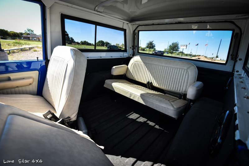 1977 Ford Bronco Interior Rear Bench Seating