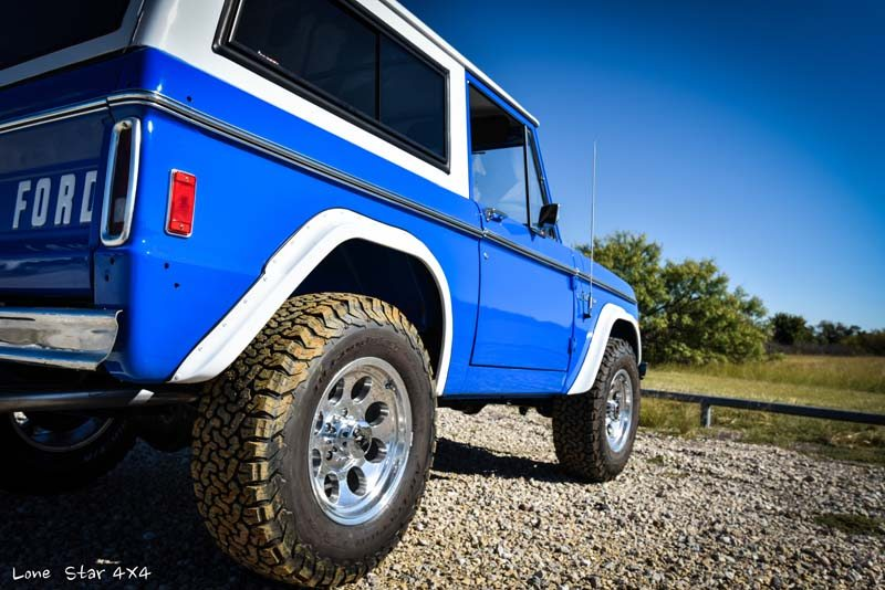 1977 Ford Bronco Rear Passenger View