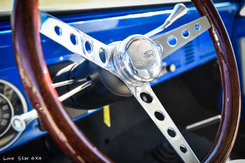1977 Ford Bronco Steering Wheel Close Up