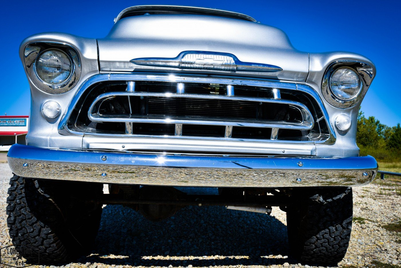 1957 Big Window Chevy Truck Front View