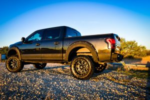Custom Stealth F150 Rear Drivers Side View
